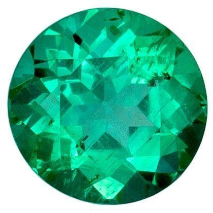 Natural Vibrant Emerald Gemstone, Round Cut, 0.75 carats, 5.7 mm , AfricaGems Certified - A Magnificent Gem