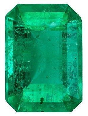 Genuine Emerald Gemstone, 0.86 carats, Emerald Cut, 6.9 x 4.9 mm, A Highly Selected Gem