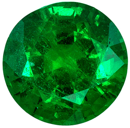 Highly Requested Emerald Loose Gem, 0.99 carats, Medium Rich Green, Round Cut, 6.3 mm