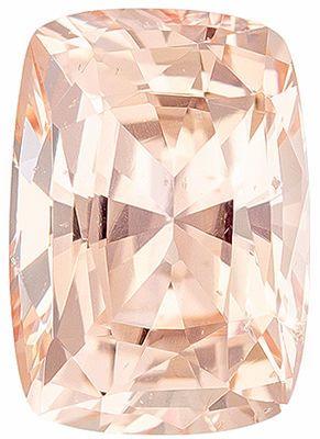 Attractive Unheated GIA Certified Genuine Loose Peach Sapphire Gemstone in Cushion Cut, 6.63 x 4.68 x 3.58 mm, Vivid Medium Peach, 1.02 carats