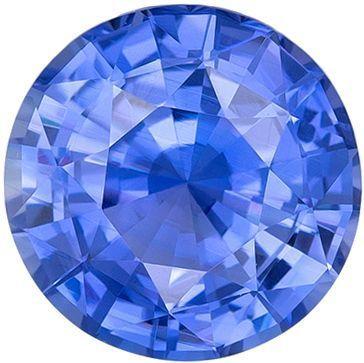 Low Price on No Heat GIA Certified Genuine Loose Blue Sapphire Gemstone in Round Cut, 6.12 x 6.2 x 3.57 mm, Rich Cornflower Blue, 1.03 carats