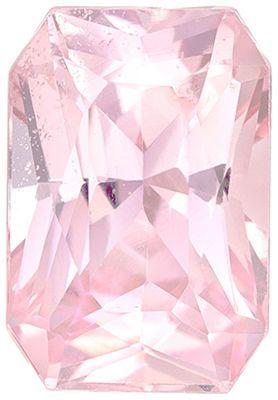 Attractive GIA Certified Genuine Loose Peach Sapphire Gemstone in Radiant Cut, 6.65 x 4.52 x 3.75 mm, Vivid Peach, 1.05 carats