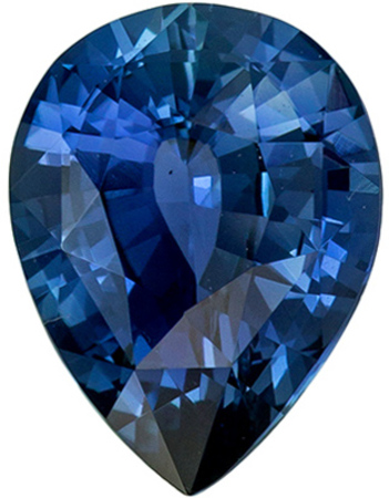 Hard to Find Sapphire Natural Gem, 8 x 6mm, Teal Blue, Pear Cut, 1.14 carats