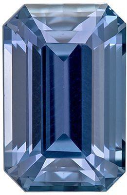 Beautiful No Treatment Blue Sapphire Genuine Loose Gemstone in Emerald Cut, 1.14 carats, Medium Cornflower Blue, 5.65 x 5.52 mm - GIA Certificate
