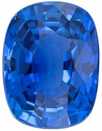 Low Cost No Treatment GIA Certified Genuine Loose Blue Sapphire Gemstone in Cushion Cut, 6.7 x 5.06 x 3.53 mm, Vivid Rich Blue, 1.15 carats