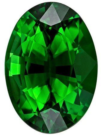 Unique Chrome Tourmaline Faceted Gem, 1.15 carats, Oval Cut, 8 x 5.6  mm , Super Low Price