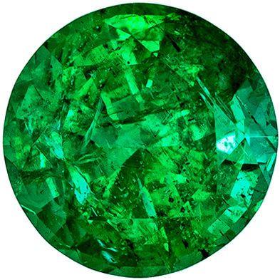 Beautiful Emerald Quality Gem, 1.18 carats, Rich Green, Round Cut, 6.9 mm