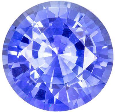 Bright & Lively Sapphire Genuine Gem, 1.29 carats, Cornflower Blue, Round Cut, 6.6 mm
