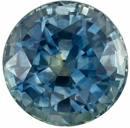 Low Price Genuine Loose Blue Green Sapphire Gemstone in Round Cut, 6.1 mm, Teal Blue Green, 1.3 carats