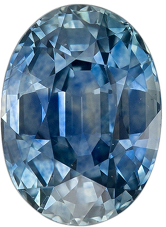 Excellent Genuine Loose Blue Green Sapphire Gemstone in Oval Cut, 7.1 x 5.1 mm, Vivid Teal Blue Green, 1.32 carats
