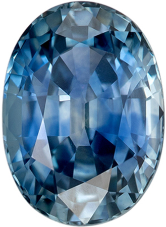Low Price Genuine Loose Blue Green Sapphire Gemstone in Oval Cut, 7 x 5.1 mm, Teal Blue, 1.33 carats