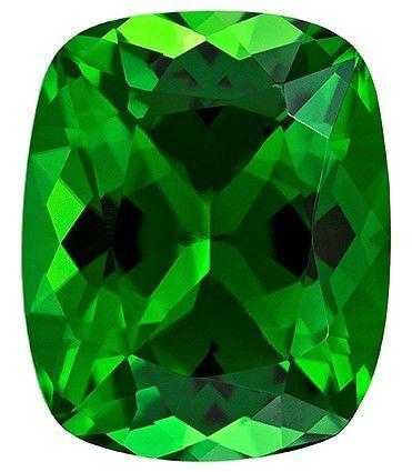 Stunning Chrome Tourmaline Loose Gem, 1.39 carats, Cushion Cut, 7.5 x 6.1  mm , Very High Quality Gem
