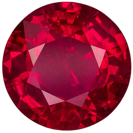 Lovely GIA Certified Ruby Genuine Gem, 1.44 carats, Pigeons Blood Red, Round Cut, 7.03 x 7.13 x 3.71 mm