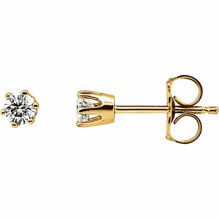 White Diamond Earrings in 0.20 Carat Diamond Post Stud Earrings
