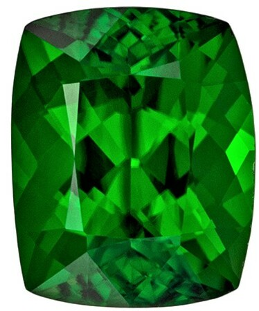 Must See Chrome Tourmaline Genuine Gemstone, 1.69 carats, Cushion Cut, 8.1 x 6.5  mm , Gemmy Low Cost Stone