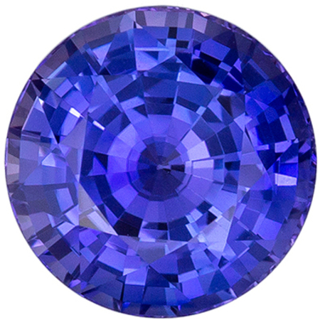 Highly Requested Sapphire Natural Gem, 1.79 carats, Vivid Rich Blue, Round Cut, 7 mm