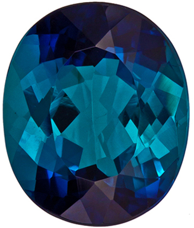 Rare Blue Tourmaline 6.2 carats, Oval shape gemstone, 12.6 x 10.5  mm