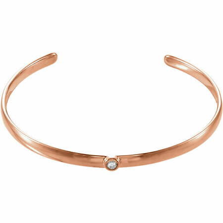 14 Karat Rose Gold 0.10 Carat Diamond 8