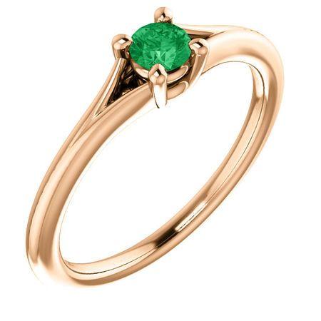 Shop 14 Karat Rose Gold Emerald Youth Ring