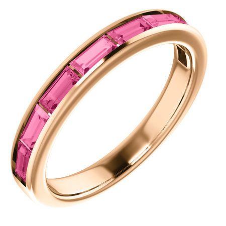14 Karat Rose Gold Pink Tourmaline Ring