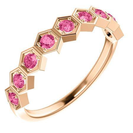 Shop 14 Karat Rose Gold Pink Tourmaline Stackable Ring