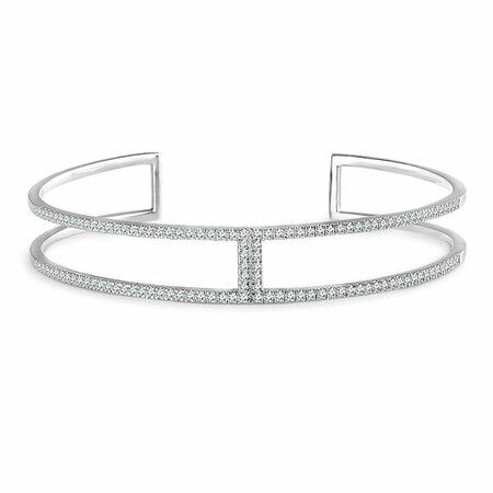Buy 14 Karat White Gold 0.75 Carat Diamond Cuff 6