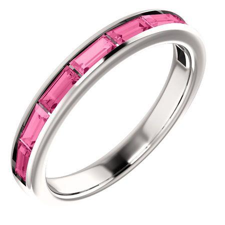 Buy 14 Karat White Gold Pink Tourmaline Ring
