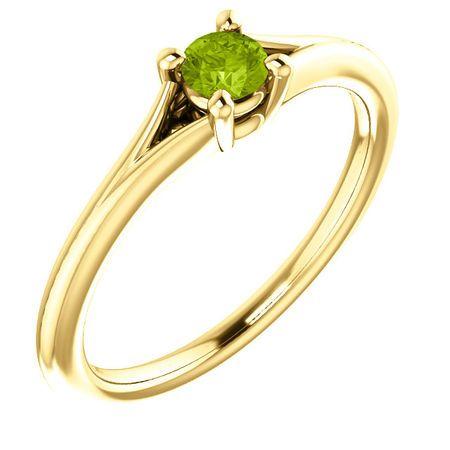 Buy 14 Karat Yellow Gold Peridot Youth Ring