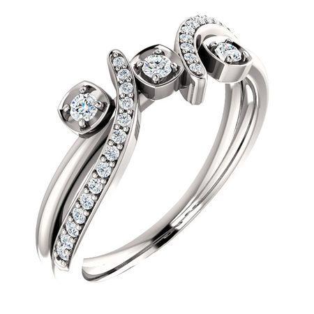 14 Karat White Gold 0.20 Carat Diamond Ring