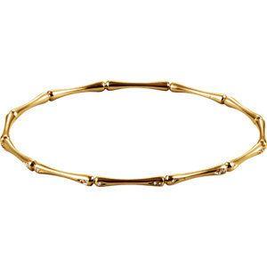 14 KT Yellow Gold 65mm 1/6 Carat TW Diamond Bracelet