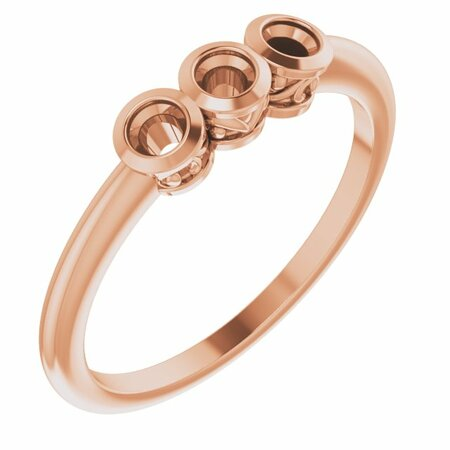 Created Moissanite Ring in 14 Karat Rose Gold 2.5 mm Round Forever One Moissanite Ring