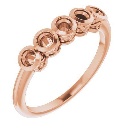 Genuine Emerald Ring in 14 Karat Rose Gold Emerald Ring