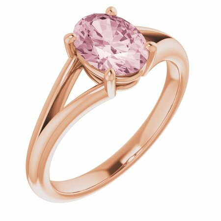 Pink Morganite Ring in 14 Karat Rose Gold Morganite Ring