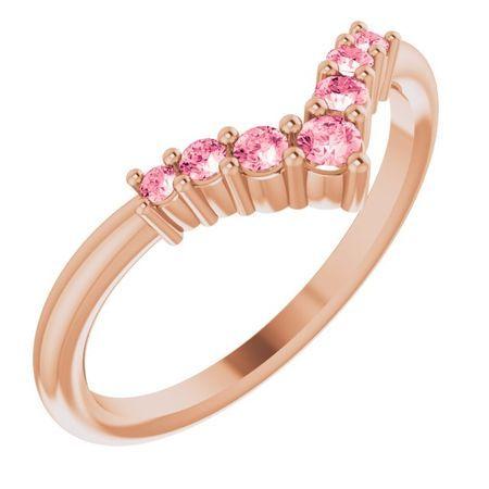 Pink Tourmaline Ring in 14 Karat Rose Gold Pink Tourmaline Graduated