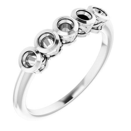Created Moissanite Ring in 14 Karat White Gold 2.5 mm Round Forever One Moissanite Ring