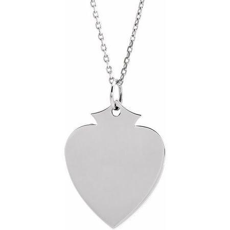 Diamond Necklace in 14 Karat  Gold 21.5x16.5 mm Shield 24