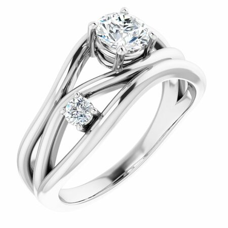 White Lab-Grown Diamond Ring in 14 Karat White Gold 5/8 Carat Lab-Grown Diamond Ring