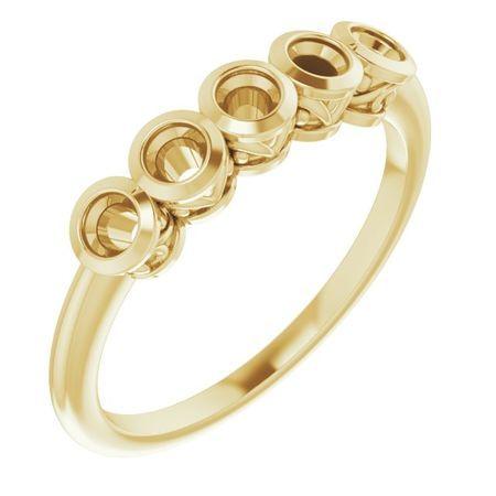 Created Moissanite Ring in 14 Karat Yellow Gold 2.5 mm Round Forever One Moissanite Ring