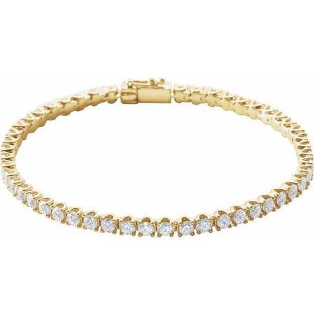 14 Karat Yellow Gold 5 Carat Weight Diamond Line 7