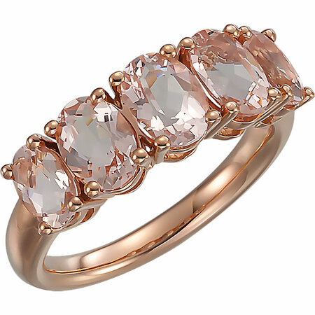 14 Karat Rose Gold Morganite Ring