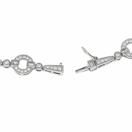 14 KT White Gold 1 5/8 CTW Diamond Bracelet