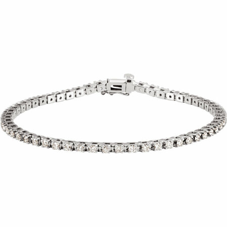 White Diamond Bracelet in 14 Karat White Gold 2 Carat Diamond 7.25