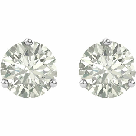 14 KT White Gold 4.5mm Round Forever Classic Moissanite Earrings