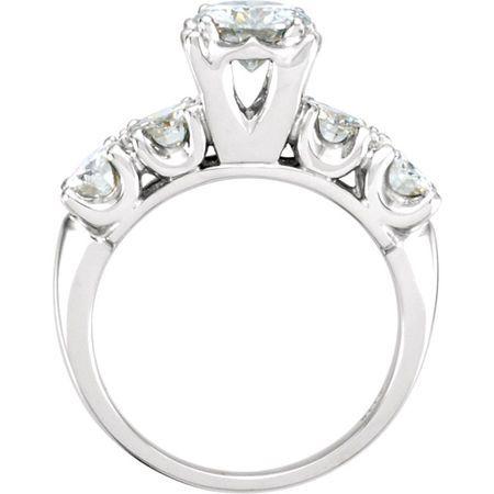 14 KT White Gold Forever Classic Moissanite Engagement Ring