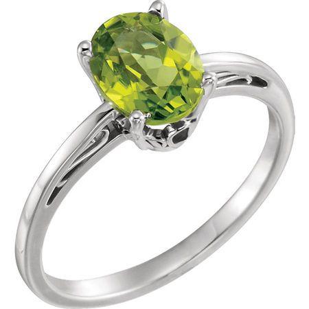 Shop 14 Karat White Gold Peridot Ring