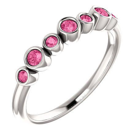 Shop 14 Karat White Gold Pink Tourmaline Bezel-Set Ring