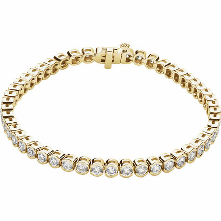 Chic 14 Karat Yellow Gold 6 Carat Total Weight Diamond Line 7.25