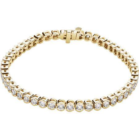 Chic 14 Karat Yellow Gold 6 Carat Weight Diamond Line 7.25