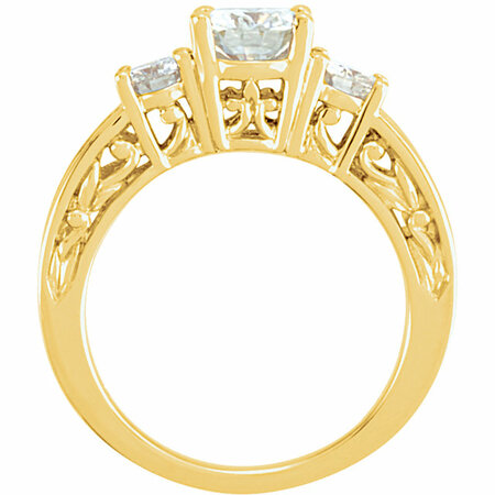 14 KT Yellow Gold Forever Classic Moissanite Anniversary Band