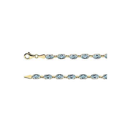 Genuine Topaz Bracelet in 14 Karat Yellow Gold Sky Genuine Topaz 7.25